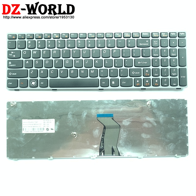 New METALLIC US English Laptop <font><b>keyboard</b></font> for <font><b>Lenovo</b></font> V570 V570C V575 Z570 Z575 B570 B570A <font><b>B570E</b></font> B570G B575 B575A B575E B590 B590A image