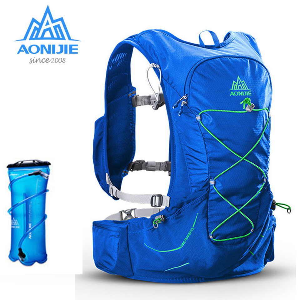 AONIJIE Sport 15L Outdoor Sports Lightweight Running Backpack with 3L Water Bladder Men Women Marathon Cycling Hiking Bag