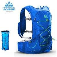 AONIJIE Sport 15L Outdoor Sports Lightweight Running Backpack with 3L Water Bladder Men Women Marathon Cycling Hiking Bag