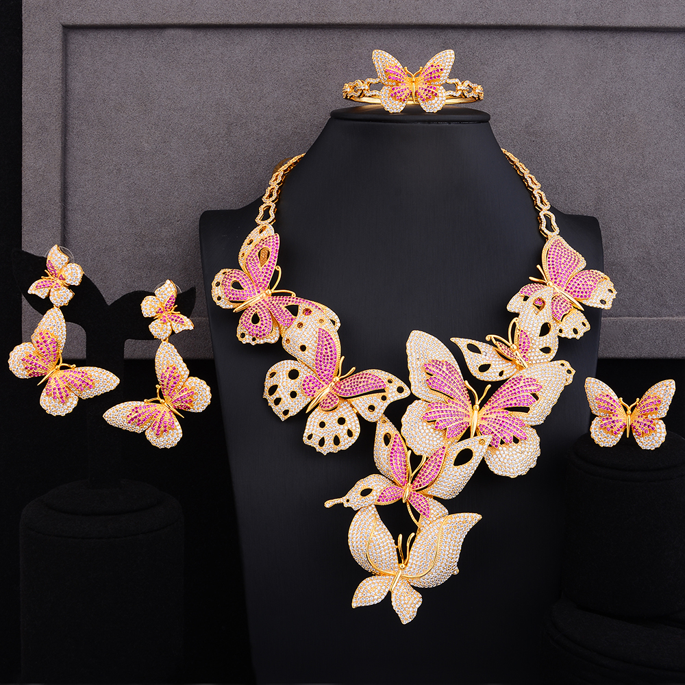 GODKI Luxury Lariat Butterfly African Cubic Zircon CZ Nigerian Jewelry sets For Women Wedding Dubai Gold Bridal Jewelry Set 2019GODKI Luxury Lariat Butterfly African Cubic Zircon CZ Nigerian Jewelry sets For Women Wedding Dubai Gold Bridal Jewelry Set 2019
