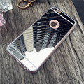 Espelho de luxo de flash moda case para iphone 7 7 plus 6 6 s plus saco macio claro tpu macio capa de silicone casos para iphone 6 plus 6 s 5S