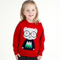 Autumn Winter Kids Clothes Girls Sweater Children Clothing Boy Pullover Infantil Casual Pull Fille Cartoon Next