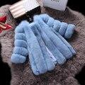 2016 Female Luxury Genuine Real Fox Fur Coat Jacket Winter Women Fur Outerwear Coats Lady Warm Clothing 0734