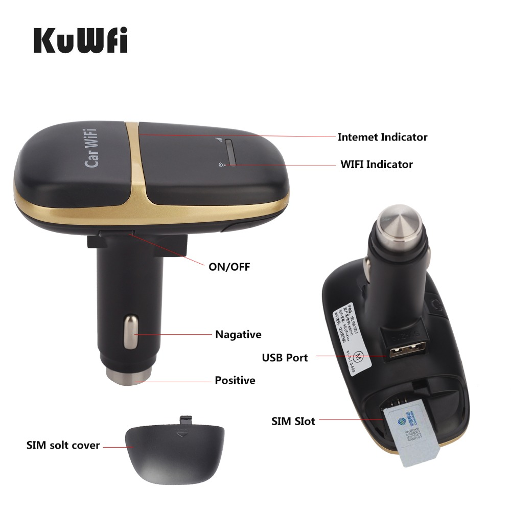 Image 5 - Unlocked Car Charger 150Mbps LTE 4G Wireless Router LTE Wifi Modem Car Hotspot With Sim Card Slot Support 10 Users To Share Wifi-in 3G/4G Routers from Computer & Office