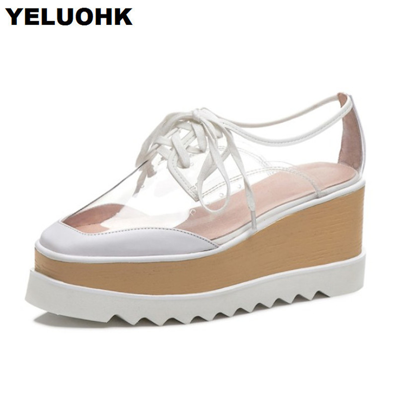 Brand New Square Toe Transparent Shoes Women High Heels Lace Up Summer Shoes For Women Pumps Casual Shoes Woman High QualityBrand New Square Toe Transparent Shoes Women High Heels Lace Up Summer Shoes For Women Pumps Casual Shoes Woman High Quality