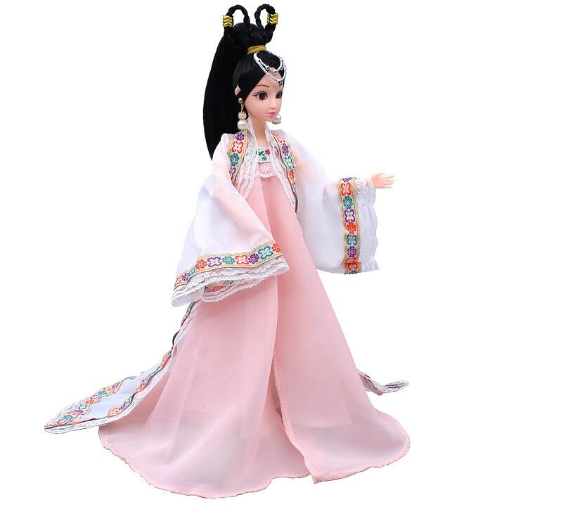 NK One Set Moroccan Dress Princess Doll Sinicism Dress Kimono Gown Classical Clothing For Barbie Doll Children Kids Gift JJ