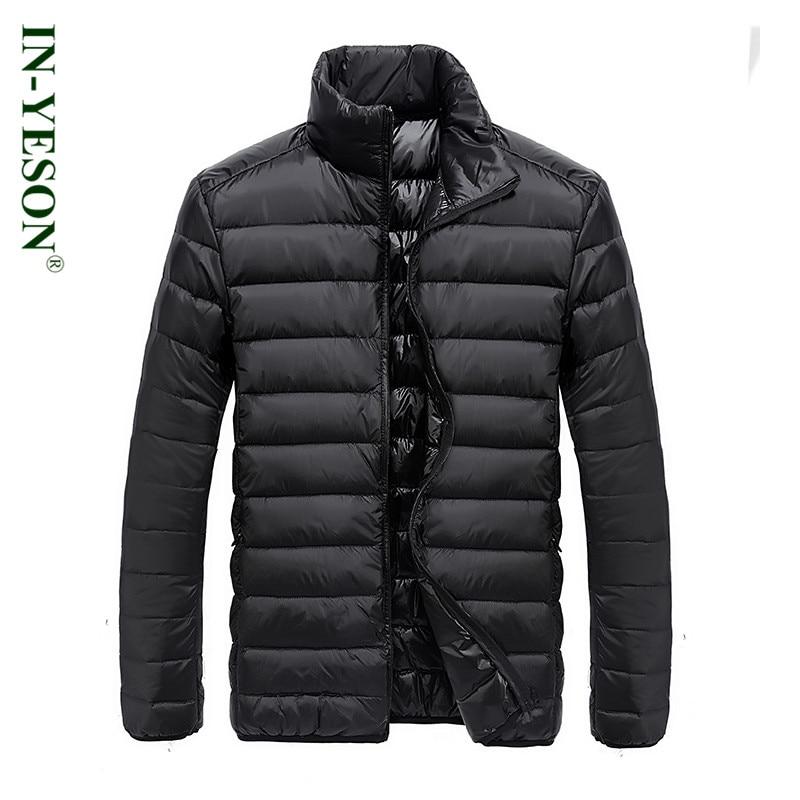 New Arrival Ultra Light Down Jacket Men Simple Design Classic Stand Collar 90% White Duck Down Coat Men Brand Winter Jacket Men