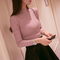 New Winter Warm Half A Bottoming Shirt Sweater Fall Short Slim Female Korean Tight Sweater Sleeve
