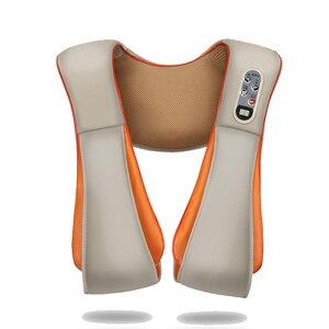 Image 5 - U образный Электрический Массажер шиацу для спины, шеи, плеч и тела, инфракрасный разминающий массажер с подогревом, многофункциональный массажер для дома