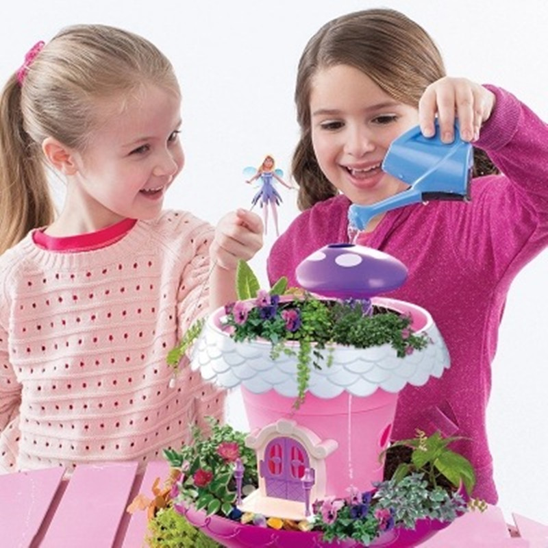 pretend play Kitchen Toys DIY Fairy Garden Cottage Potted Planting Magic Cottages Boys and Girls Toys