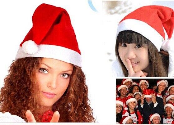 Red Christmas Hat Santa Caps MERRY CHRISTMAS   adult children kids womens  Christmas hats girls boys Wholesale fb9389f1b8