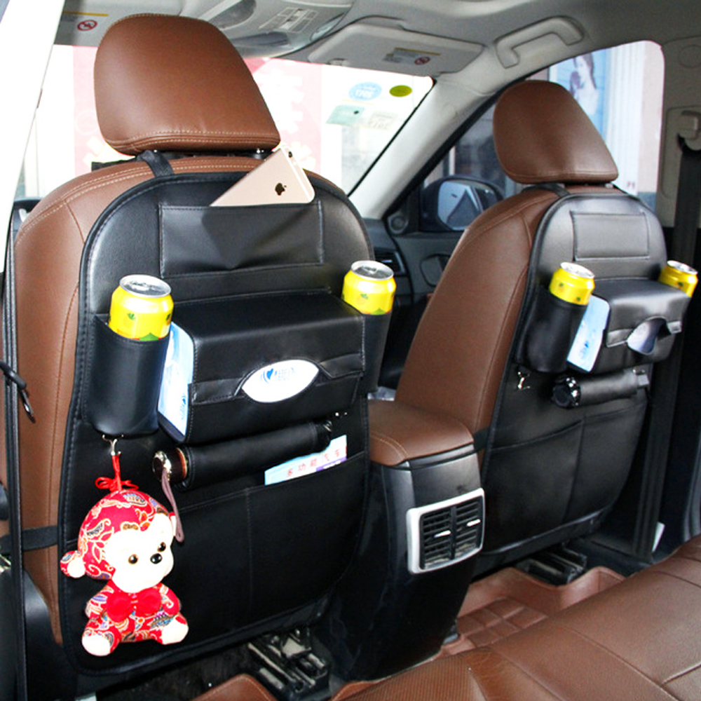 auto New car seat storage bag Hanging bags back Car child safety steat Multifunction box