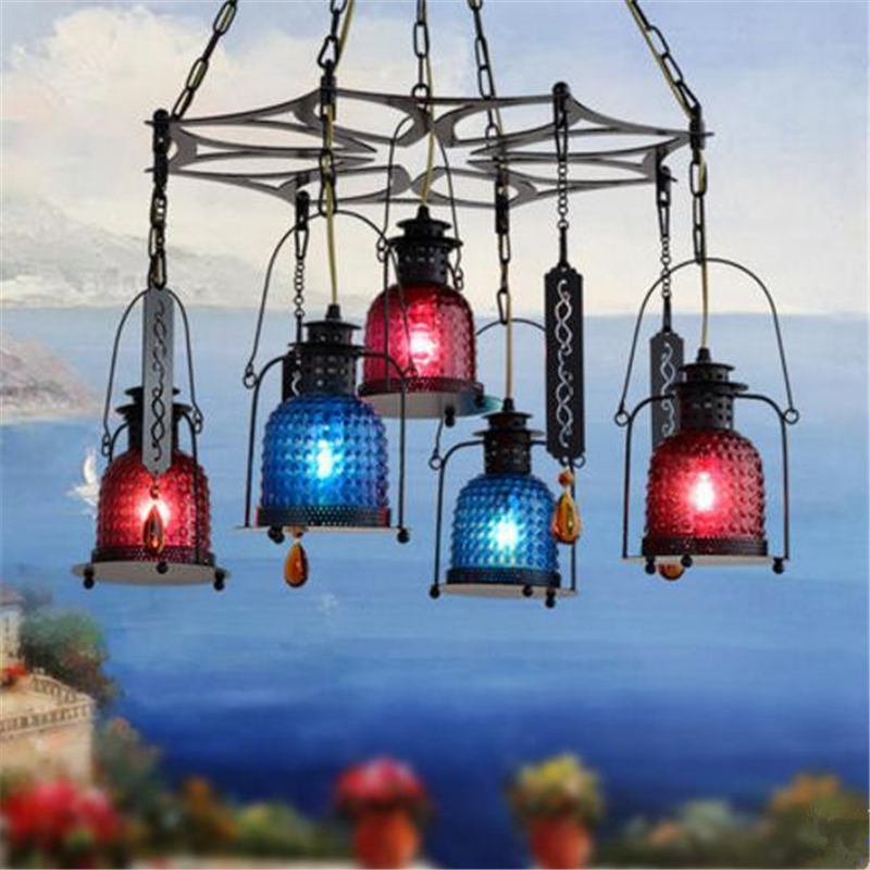 где купить 1/5 Heads American Country Retro Restaurant Chandelier Cafe Rural Bar Internet Cafe Livingroom Aisle Corridor Lamp Free Shipping дешево