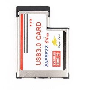 Image 3 - بطاقة Express 54 إلى USB 3.0 بطاقة 54 مللي متر اكسبرس USB PCMCIA 2 منافذ بطاقة محول معدل نقل تصل إلى 5Gbps ل ويندوز XP/Vista/7