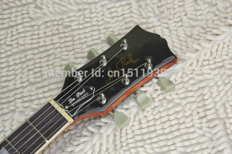 Free shipping new arrival High Quality Custom Shop L Standard Tiger stripe Flame brwon Electric Guitar In Stock