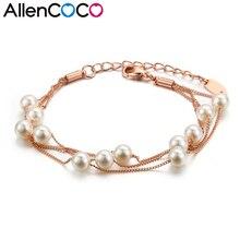 Envío Libre de corea Cadena de Clavícula Para Las Mujeres de Cadena Doble Encanto Simulado Perla Redonda Collar de Perlas Largo Collar de la Tira