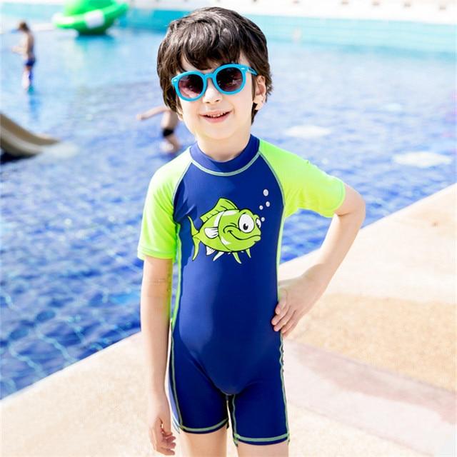 ece6a74283fd5 Children One-Piece Suits Swimsuit Bathing Suits UV UPF50+Cartoon Children  Swimwear for Kids One Piece Swimsuit Boy Swimming Suit