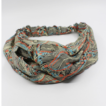 Fashion Retro Women Elastic Twisted Knotted Headband Ethnic Floral Wide Stretch Girl Yoga Hair Accessories for girls adult
