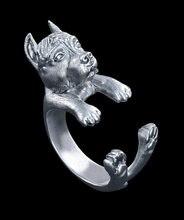 Кольцо в стиле ретро американское кольцо питбуля терьера хиппи