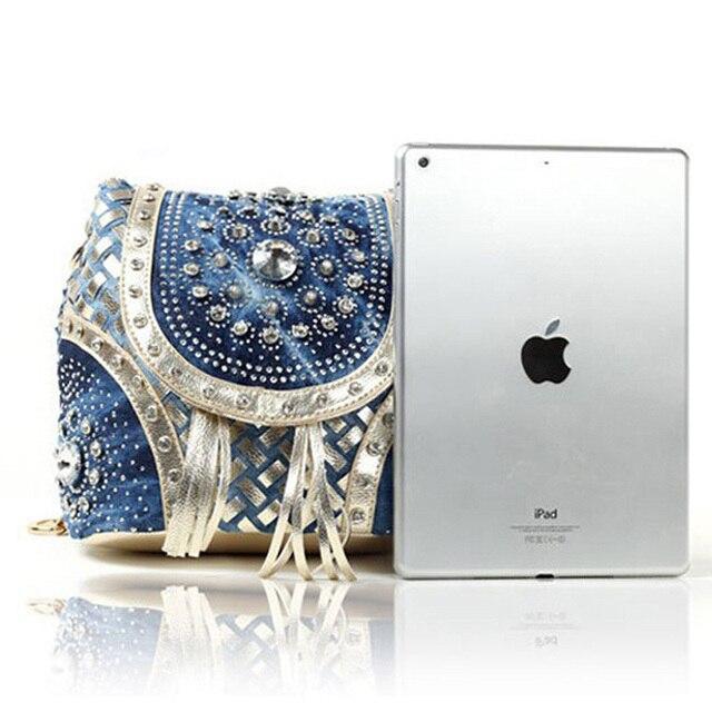 iPinee Gold/Sliver fashion ladies handbag designer weave style tassel women shoulder bags