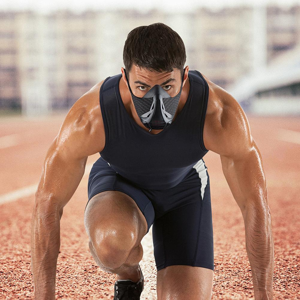 Sports Mask Adjustable Oxygen Control Mask Simulated High Altitude training Conditioning ...