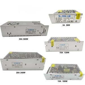 Image 5 - 電源 12 led ストリップ用 ac 220 dc 12 v ベルトトランス 10A 30A 25A 3A 2A 1.25A led ドライバ充電器降圧アダプタ