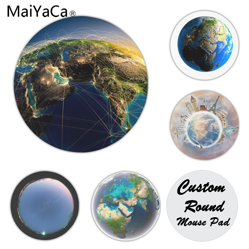 MaiYaCa In Stocked Earth and Communication mouse pad gamer play mats Size for 200x200x2mm and 220x220x2mm Small Mousepad