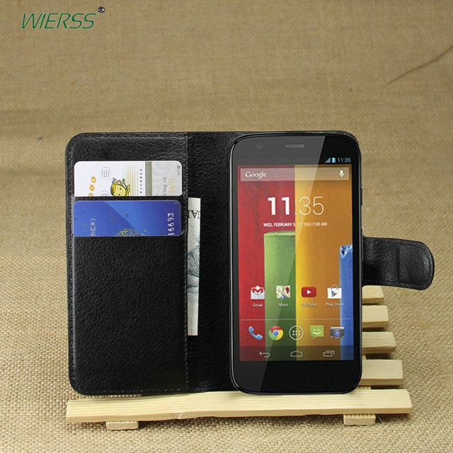 Wallet Flip Leather Case for Motorola Moto G 1st Gen XT1032 XT1033 XT1028 XT1031 phone Leather back Cover case with Stand Etui>
