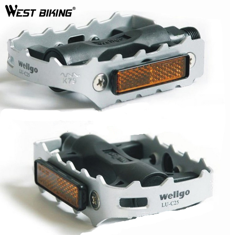 WEST BIKING Pedals B LU-C25 Ultralight Bicycle Pedals Hight Quality Steel Pedal s Aluminum Brand Bicycle Cycling Bike Pedals туфли nine west nwomaja 2015 1590