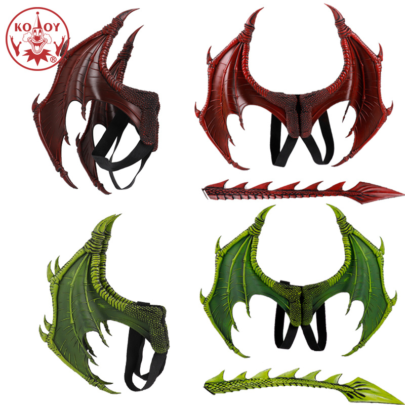 Dragon Wing cosplay Costume mask Carnival Party Gifts Kids Halloween Costume For kids Christmas Dinosaurio Cosplay costumes