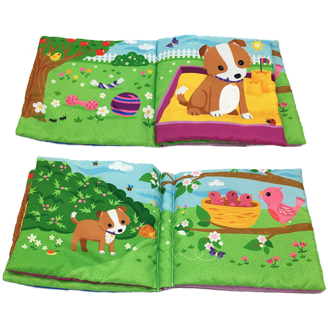 US $19 99 |6 Page Cartoon Infant Toddlers Cloth Book Toys Children Early  Development Cloth Books for Baby New Kids Learning Education Books on