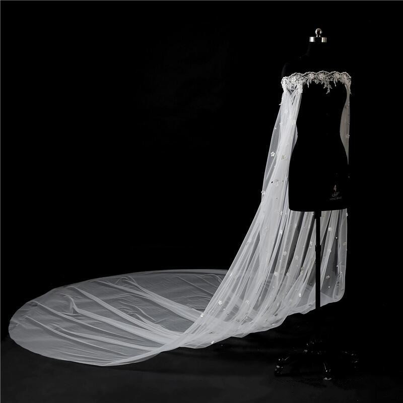 Crystal Applique Lace Long Wedding Wrap Bridal Wraps For Matching Strapless Bridal Gown Weddings Accessories Bow Tie Back