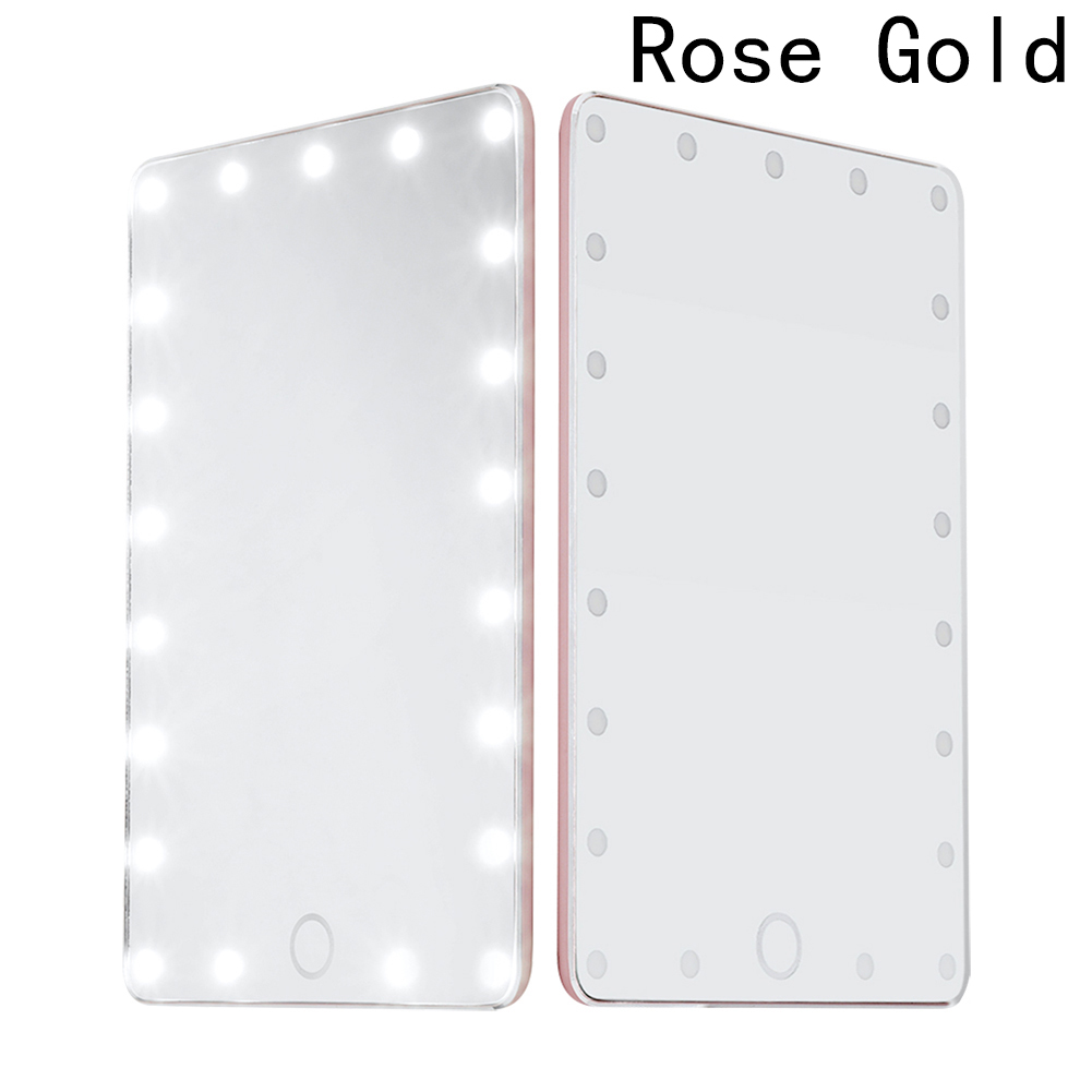 LED Сенсорный экран Макияж зеркало профессиональное косметическое зеркало с 21 светодиодные фонари Регулируемая столешница
