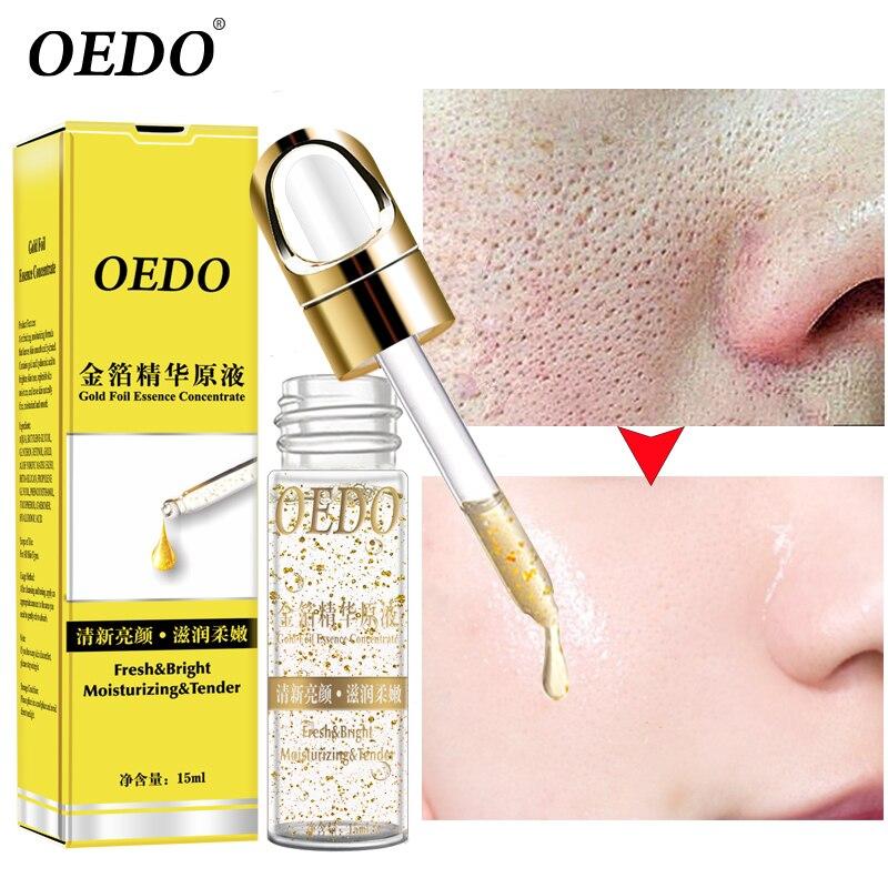 OEDO Schrumpfen Poren Gold Hyaluronsäure flüssigkeit Feuchtigkeitsspendende Gesicht Serum Bleaching Anlage Hautpflege Anti Aging Anti Falten Creme