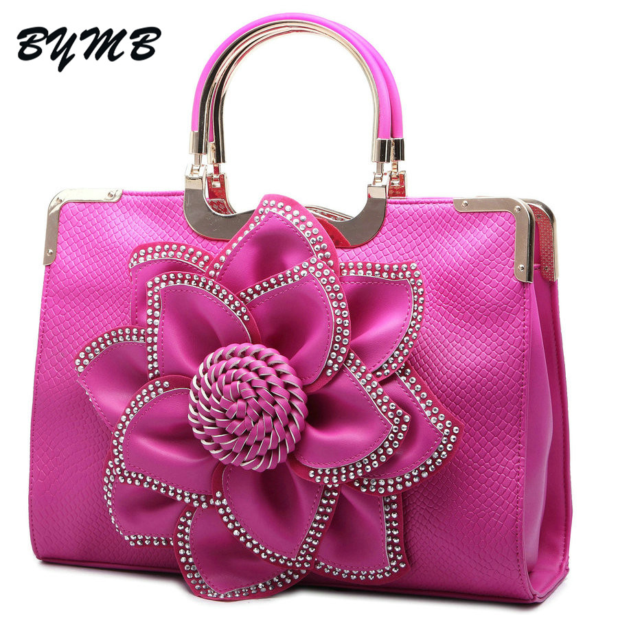 a420a2e1cc79 2018 Women Messenger Bags Vintage Big Flowers Luxury Handbags Women Bags  Designer Wedding Shoulder Bags Bolsas