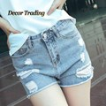 New 2016 Sexy Summer Women Jean Denim Ripped Shorts Women Short Jeans Beach Summer Bandage High-Waist shorts feminino 3509