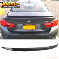 For 14 15 16 BMW F33 4 Series Performance Carbon Fiber CF Trunk Spoiler Wing ABS