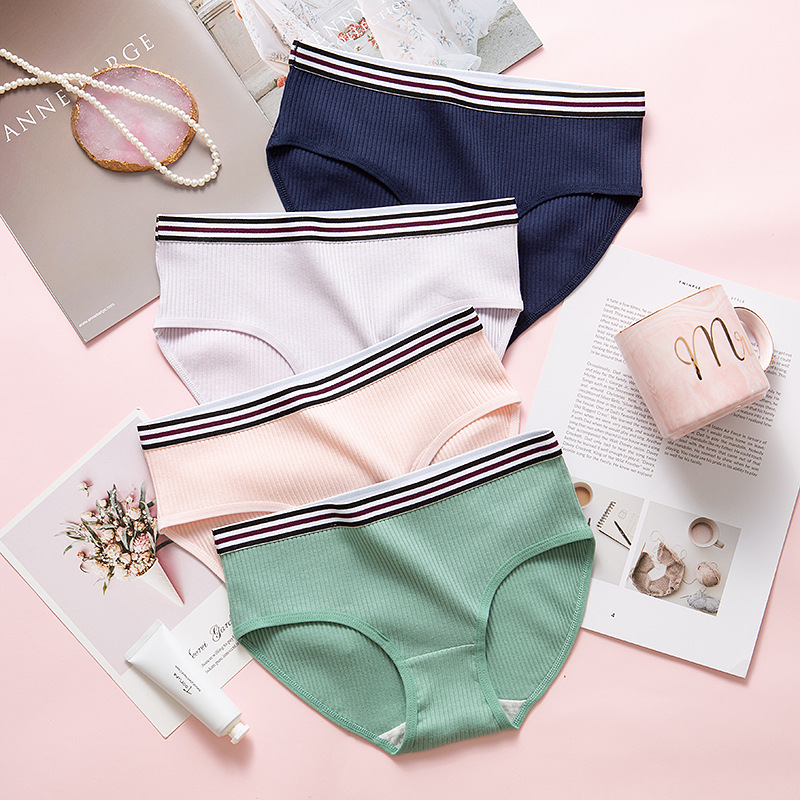 SP&CITY Sporty Cotton Solid Women Underwear Female Striped Breathable Seamless Briefs Soft Sexy Sanitary   Panties   Lingerie Tanga