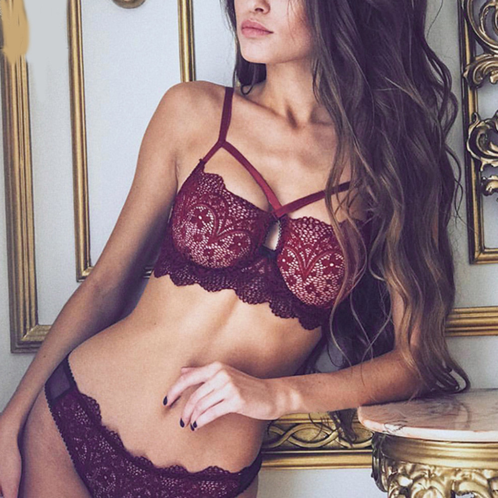 Sexy Women Lace Lingerie Bra+Set Erotic Babydoll Underwear Set Push Up Bras Brassiere Set Lenceria Females Bra And Panties CP