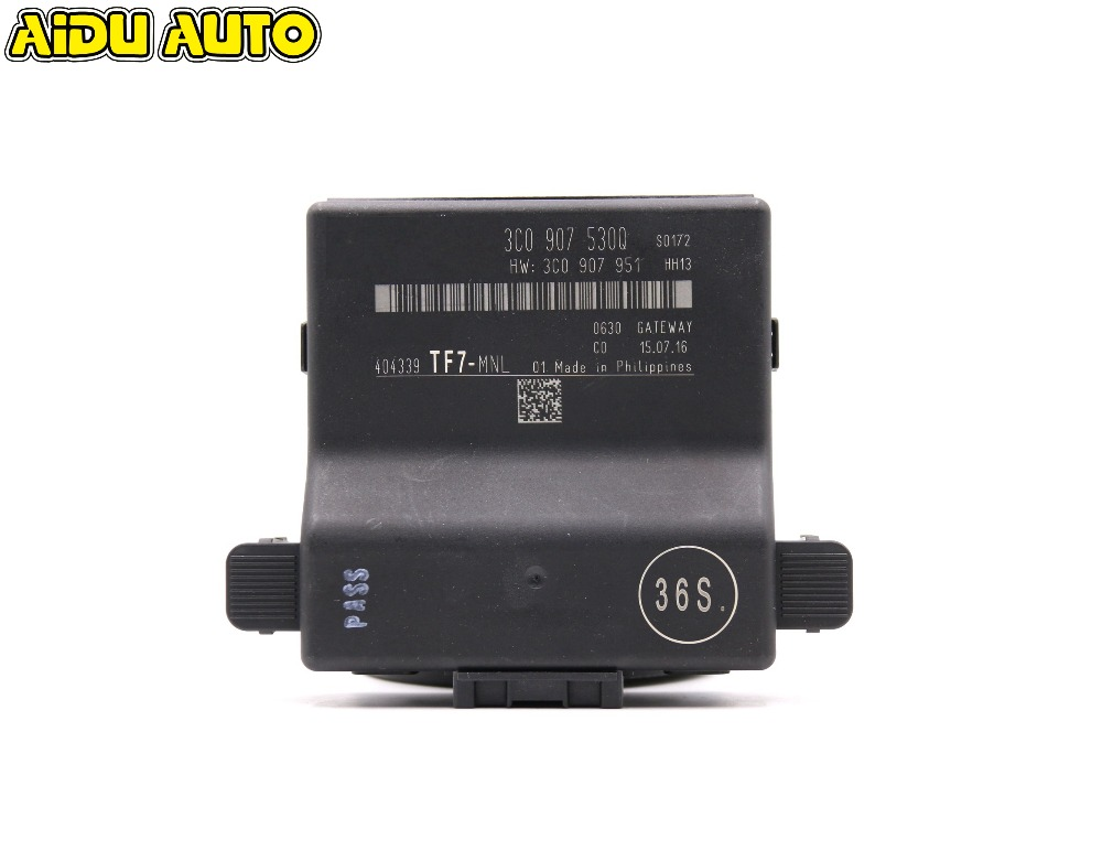 AIDUAUTO CANBUS GATEWAY 3C0907530Q MFD RNS510 RCD330 RCD510 USE FIT FOR PASSAT B6 3C 3C0 907 530 Q ( M E N L ) 3C0 907 530Q car data can bus gateway diagnosis interface for volkswagen vw passat b6 cc 3c0 907 530 l