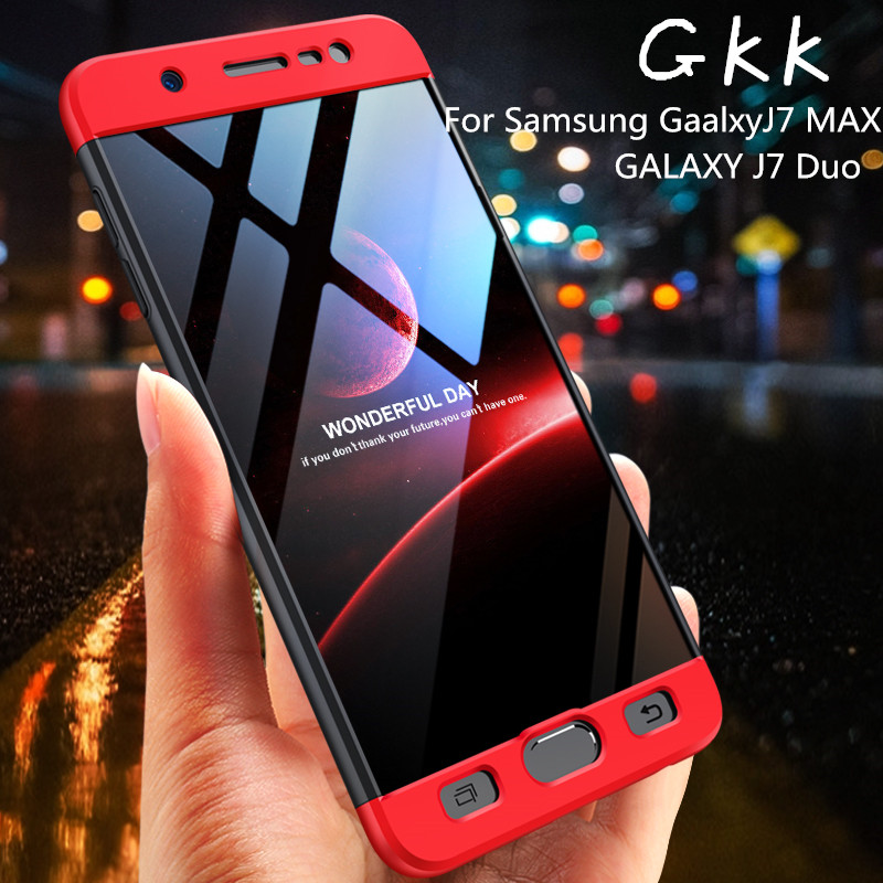 222e95cbff1 GKK 3 In 1 Case for Samsung J7 Duo for Galaxy J7 Max On Max 360 Full Body  Protection Anti-knock Hard Hit Color Case Cover Fundas