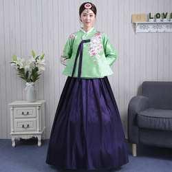 Высокое качество корейский этнический ханбок женский традиционный костюм для выступлений набор ханбок дворцовый корейский танцевальный