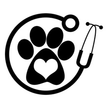 Car- stying 13cm*11cm Veterinarian Personality Vinyl Car-Styling Car Accessories Stickers  Jdm