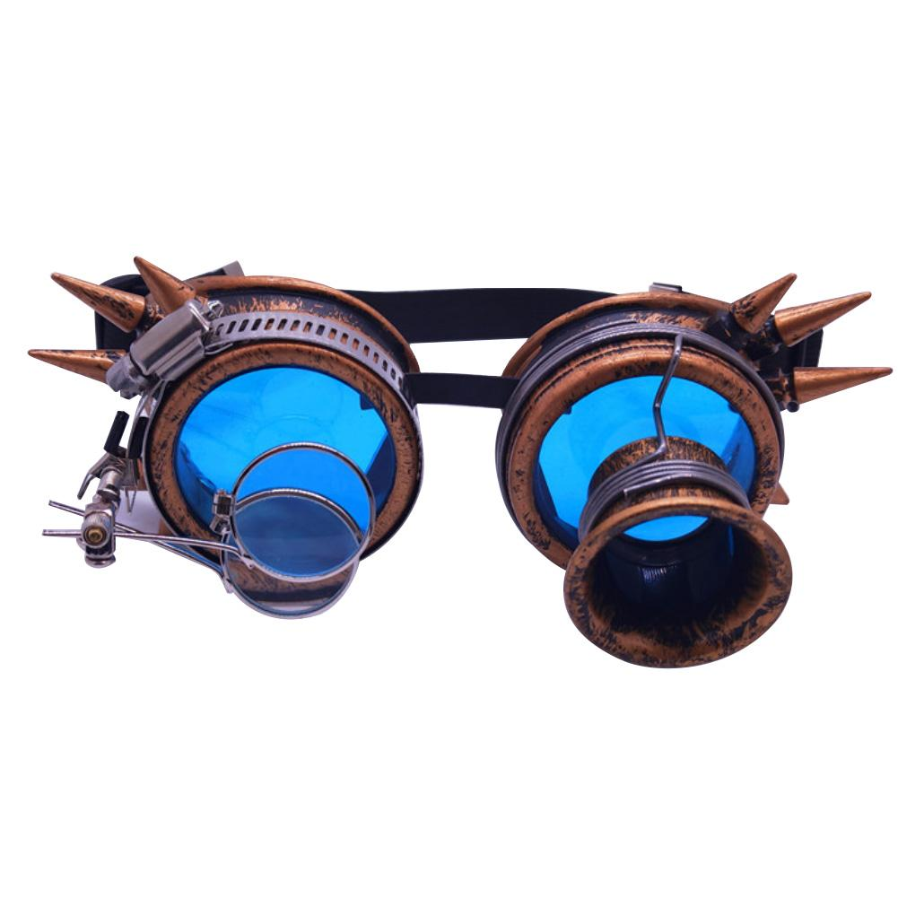 Rivet Decor Steampunk Sunglasses Goggles Festival Party Role Cosplay Favor Toy Diffracted Lens Steampunk Goggles