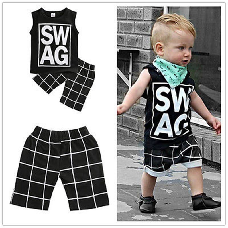 UK Stock Toddler Kids Boys T-shirt Tops Long Pants Casual Outfits Set Clothes