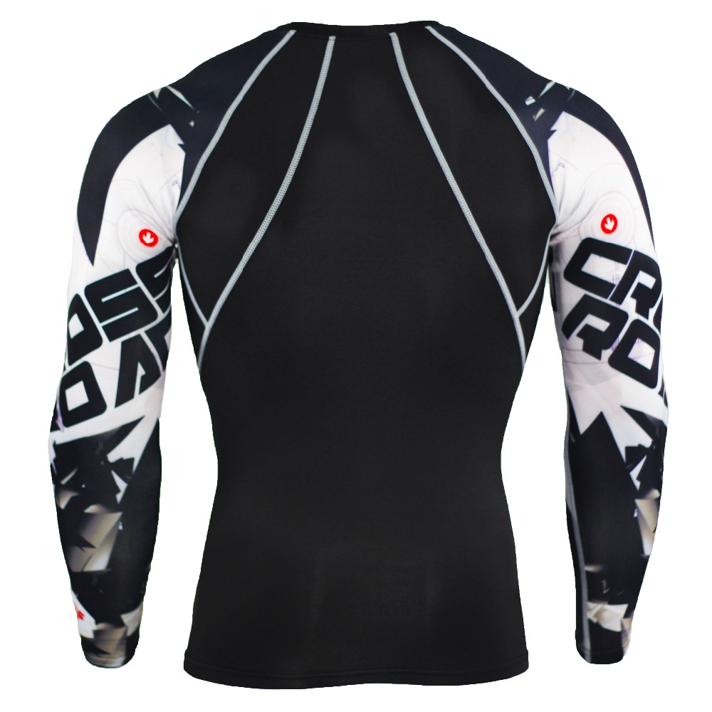Sportwear Rashgard Sport Shirt Men Compression Pants Punisher Gym Running Shirt Men Fitness Leggings Clothes Tight Suit 3