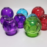 5pcs 5 sizes thickened colorful glass vacuum Cup Traditional Chinese cupping Household Extra Strong Glass fire Cupping therapy