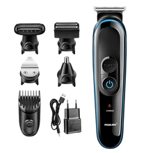 цена на Nikai 100-240V 5 In 1 Electric Shaver Hair Trimmer Hair Clipper Shaving Machine Cutting Nose Beard Trimmer Men Razor Eu Plug