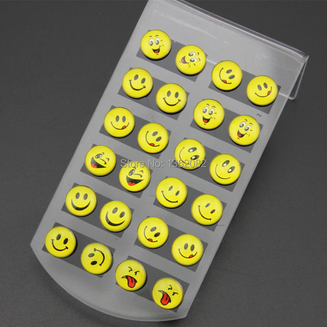 Online Whole Lot 12pairs Round Yellow Hy Face Emoji Earrings Cute Funny Smiley Stud Christmas Gift Me56 Aliexpress Mobile
