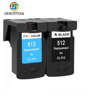 Obestda pg512 CL 513 ink cartridge replacement for Canon PG 512 CL 513 for Canon MP240 MP250 MP270 MP230 MP480 MX350 IP2700